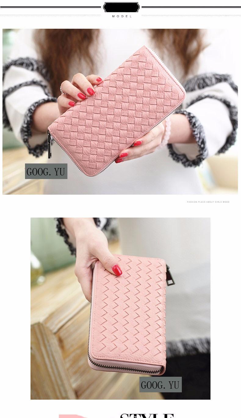 ≧Japón y estilo coreano tejer bolso mujeres moda casual cremallera ...