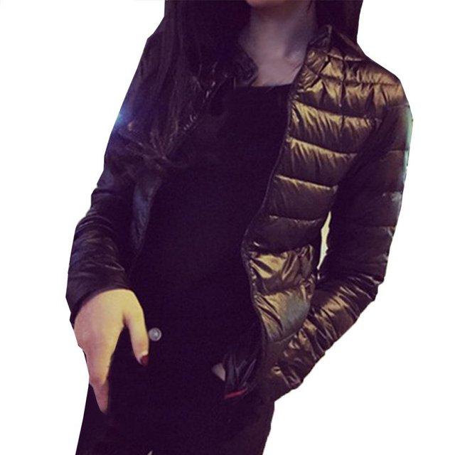 Осень Зима Вниз Пальто Женщины Парки Повседневная Куртка Тонкий Капюшоном Проложенный Верхняя Одежда