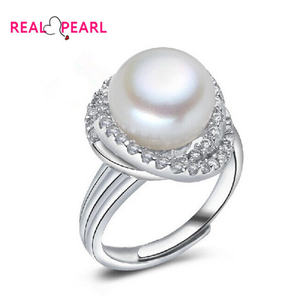 Real Pearl 11 12mm Super Big Freshwater Pearl Ring