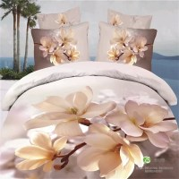 3D-Floral-Print-Magnolia-Bedding-Set-Queen-Size-Bed-Sheet ...