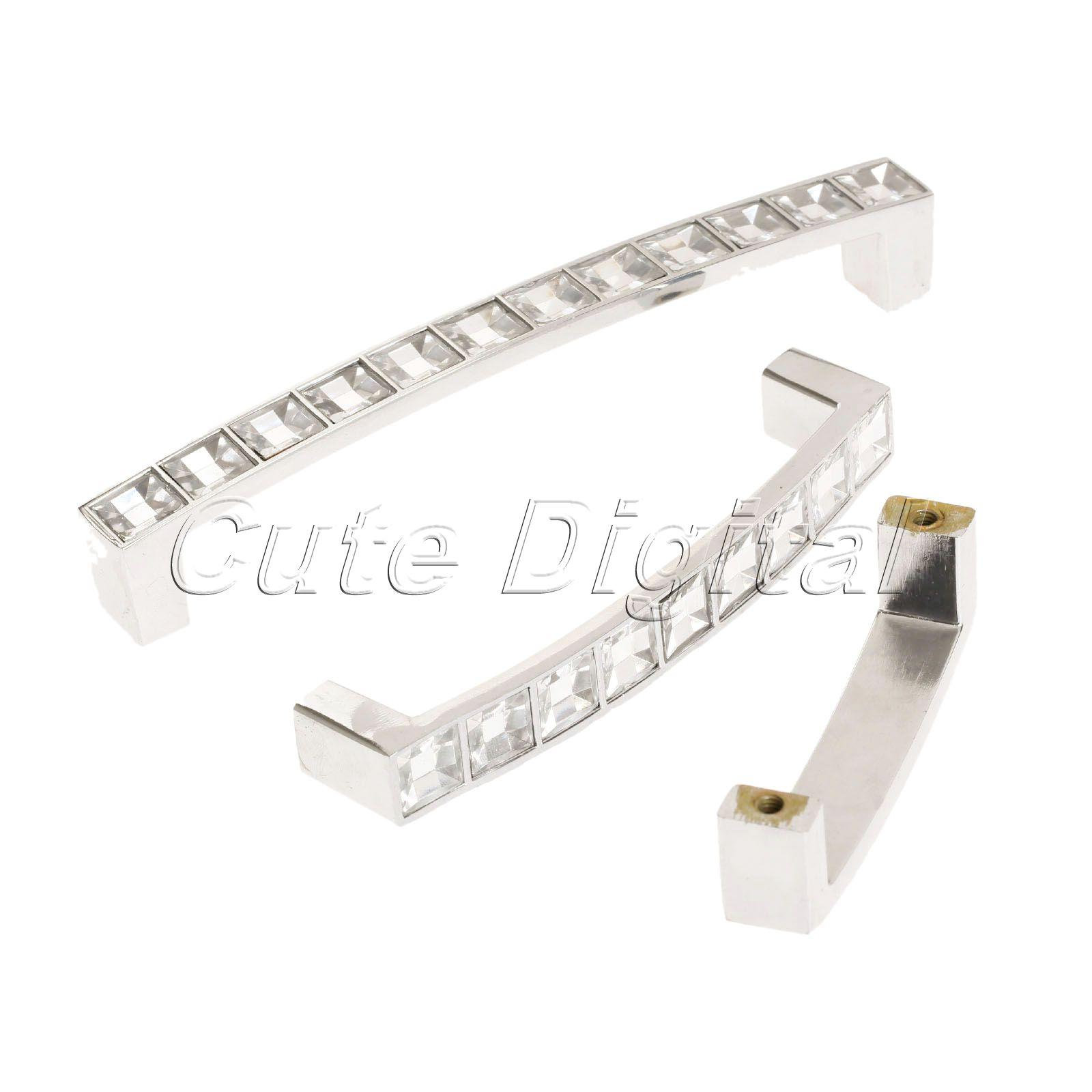 kitchen pull handles white diamond crystal door knobs and handles cabinet wardrobe cupboard kitchen pull handle furniture hole distance 6496128mm ღ ƸӜƷ ღdiamond