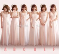Different Style Beautiful Chiffon A Line Ruffle Bridesmaid ...