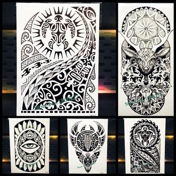 •Новый Индийский Сибирь дикий Король Лев татуировки паста ...