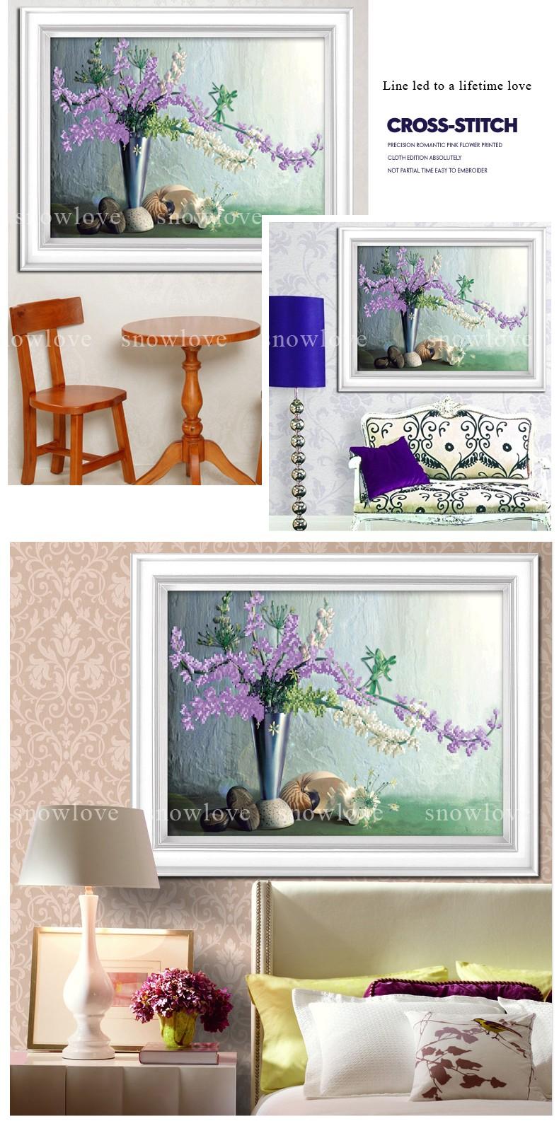ộ_ộ ༽Snowlov, costura, bordado, DIY Floral, punto de cruz, kits ...