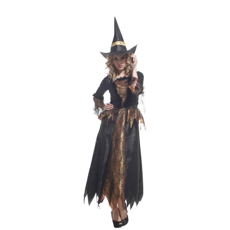 ᐂModa adulto Halloween Masquerade Cosplay traje ropa bruja elfo ... 956cb84284a