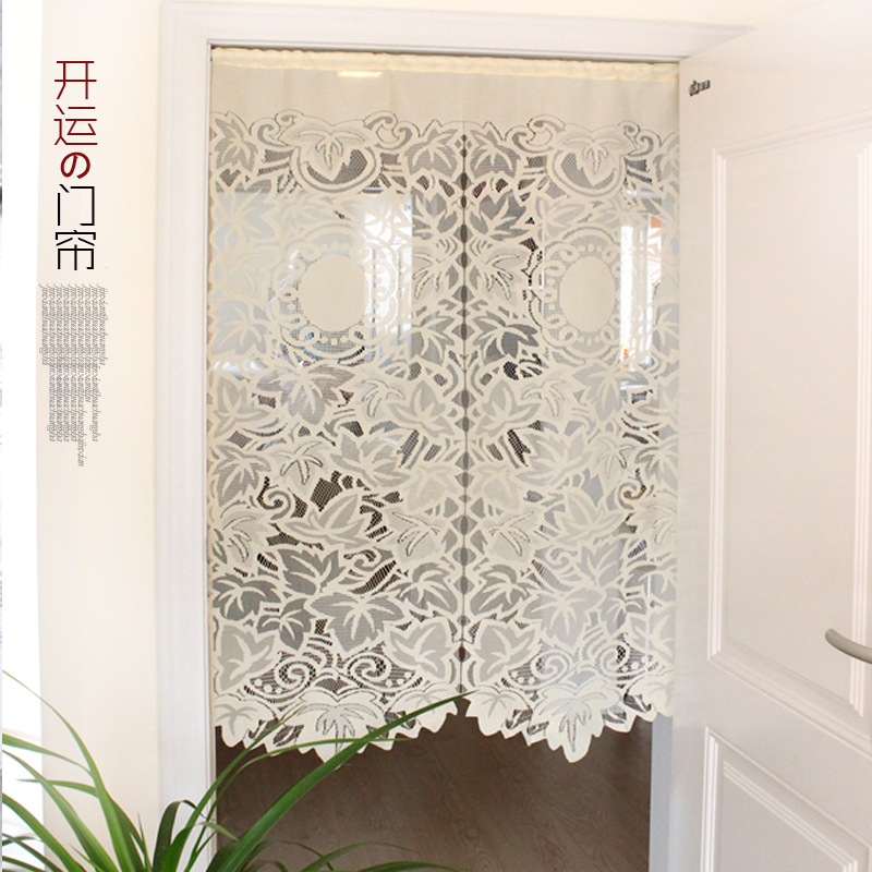 Leaves lucky feng shui curtain semi shade cloth decoration