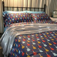 Guitar Bedding Set Music Bed Set 4pcs Home 3D Bedding Sets
