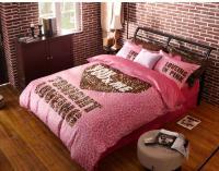Winter Worm velvet fleece comforter sets pink leopard ...
