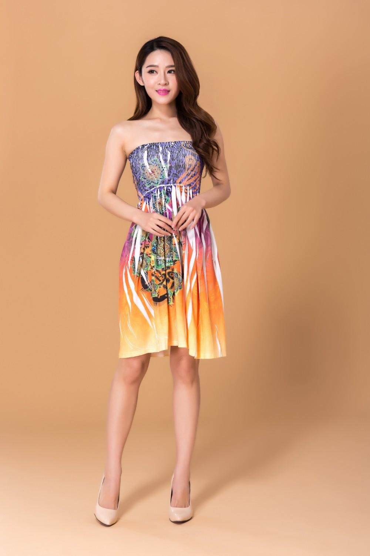 513a27012e8 Новинка 2017 года высокой упругой груди пикантные Платье без бретелек груди  завернутый платье печати горячей бурения процесс банкетов для но.