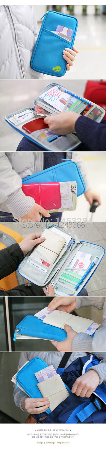 d27e7260a Pasaporte del recorrido del monedero del bolso carry multifuncional  documento Paquetes día embrague bolso del pasaporte, envío libre!