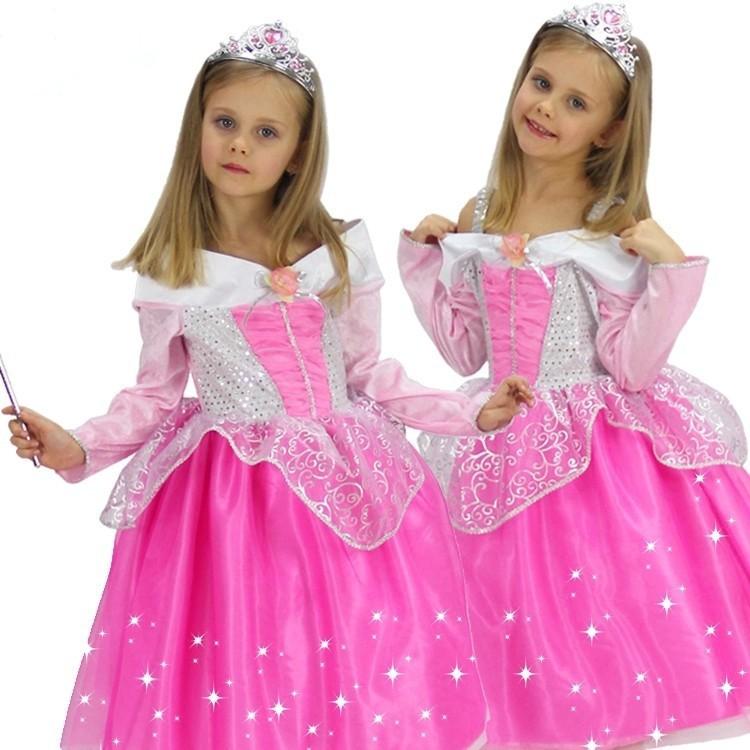 ⊰Dormir Rosa princesa vestido para niñas princesa fiesta de ...