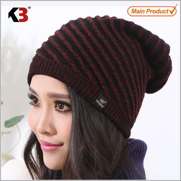 5f86cb8b63fa 2016 Hot Sale Unisex Knit Baggy Beanie Beret Winter Warm Oversized Ski Cap  Hat (1 ...