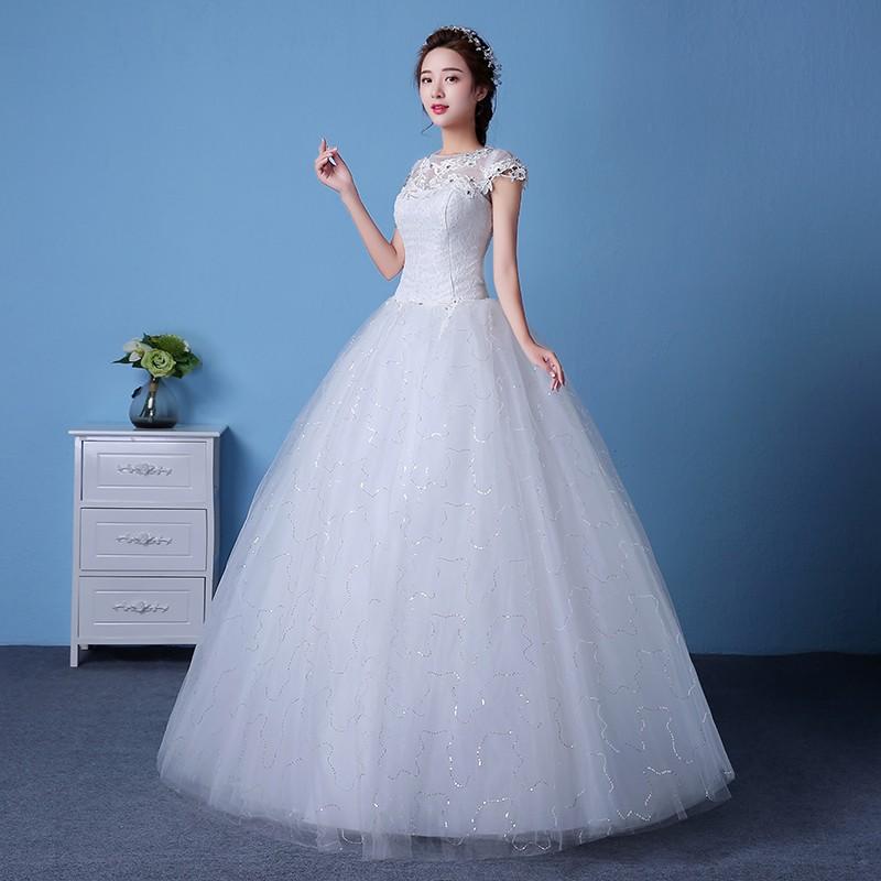ᗑLAMYA Plus Size Short Lace Sleeve Rmantic Wedding Dress 2016 Cheap ...