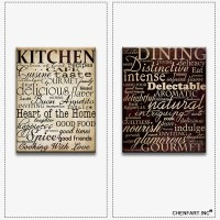 Hot sells 2panels one set Painting Canvas kitchen wall art ...