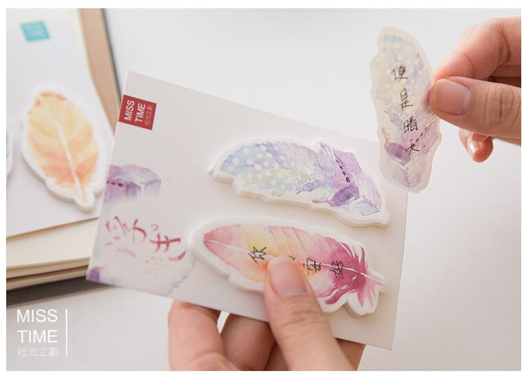 aeProduct.getSubject()  Y56 Recent Colourful Feather Memo Pads Sticky Notes Stick Paper Message Sticker Bookmark Marker of Web page Stationery Faculty Provide HTB1c2JdOVXXXXabaFXXq6xXFXXX2