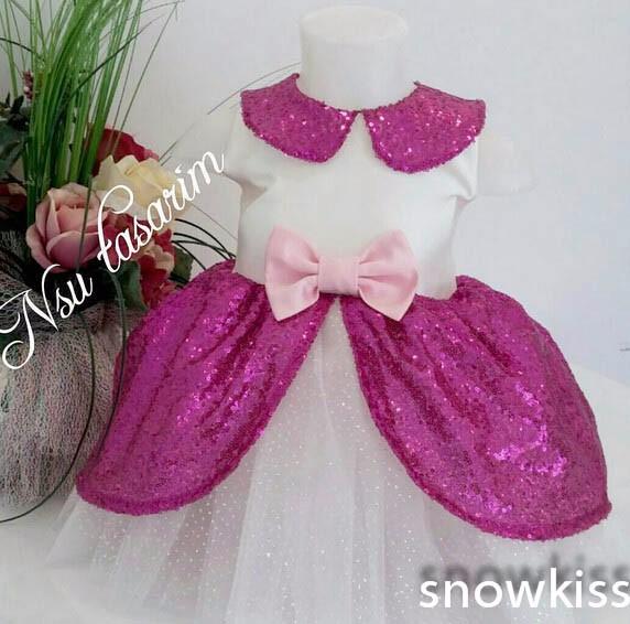 ᓂAzúcar lindo princesa rodilla-longitud vestidos de niña coral ...