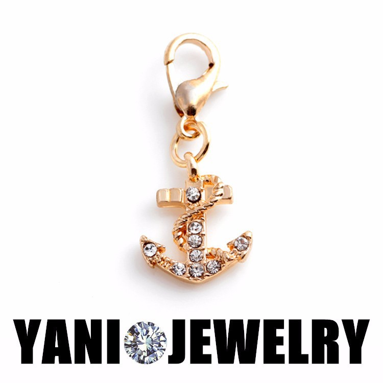 20pcslot Free Shipping Crystal Anchor Charm Jewelry Floating