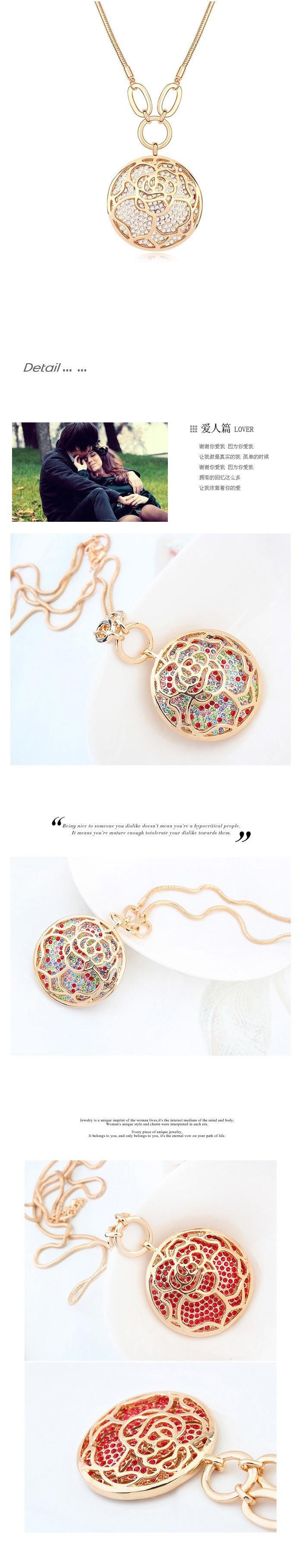 Color caliente del oro de la manera cadena larga collar hecho con