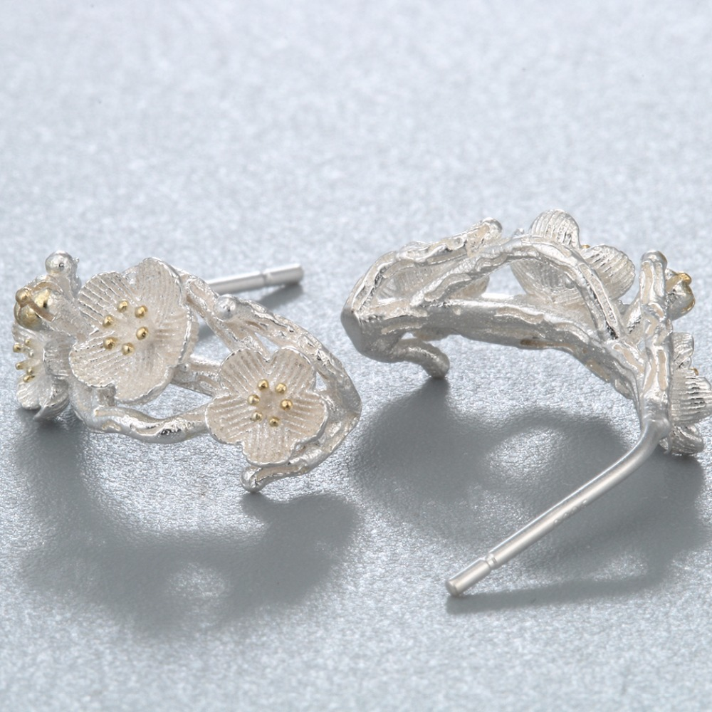 IMG_8837  CHENGXUN Cherry Blossom Equipment Department Flowers Stud Earrings For Girls Marriage ceremony Social gathering Silver Earring Ladies Birthday Decor HTB1cHJvQXXXXXcrXVXXq6xXFXXXU