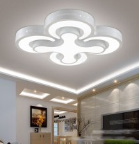 Modern led ceiling lights 48W bedroom lamps 4heads for ...