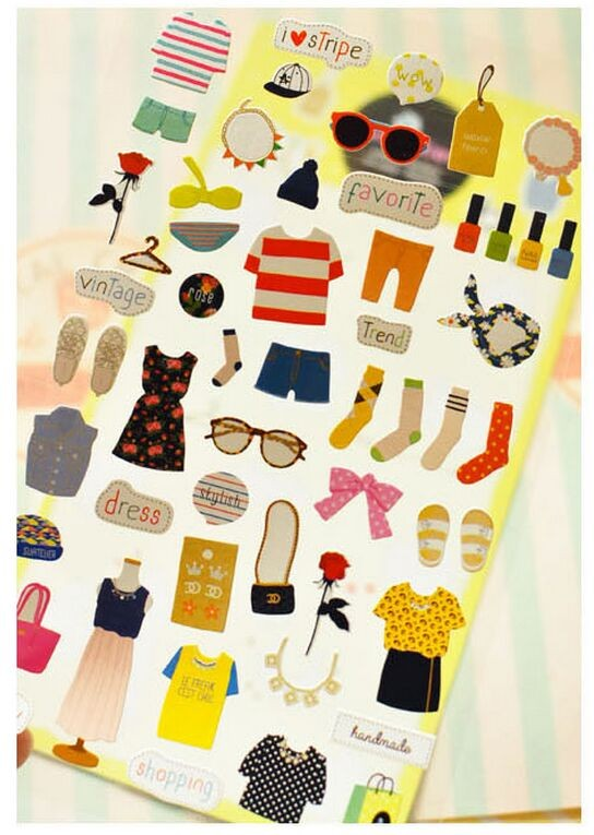 165404c4862 Click here!! My Favorite Wardrobe Dress Up Diary Stickers Decorative Mobile  Stickers Scrapbooking DIY PVC Stickers Escolar Papelaria