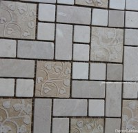 Marble Off White Natural Cutting Mosaic Tile Kitchen ...