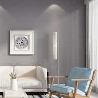 HaokHome Solid Color Non Woven Wallpaper Dark Grey Modern