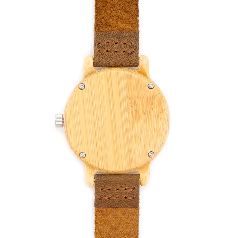 e85644b9a582 Amante vendedor caliente japonés miyota movimiento reloj Cuero auténtico  bambú relojes para hombres y mujeres