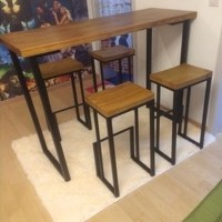 American Iron Bar chairs do the old retro bar stool wood ...