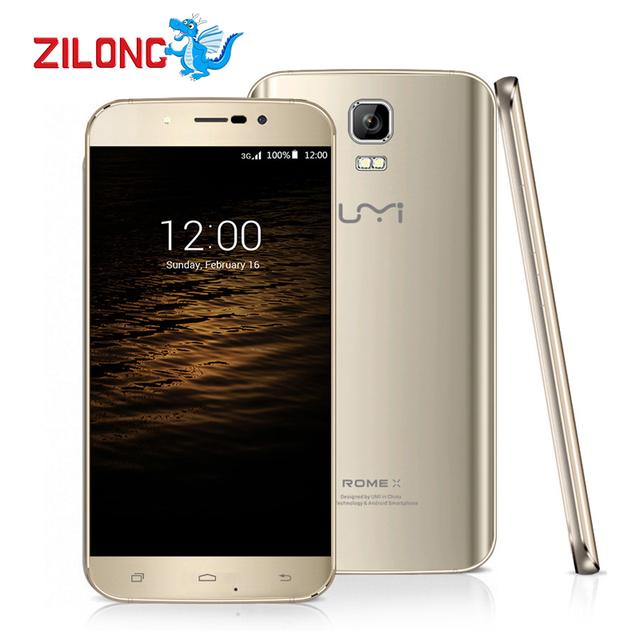 Оригинал Umi Рим X Android 5.1 смартфон 3 г MTK6580 5.5 дюймов 64bit Quad Core 1280x720 P 13.0MP мобильный телефон Dual SIM 13.0MP