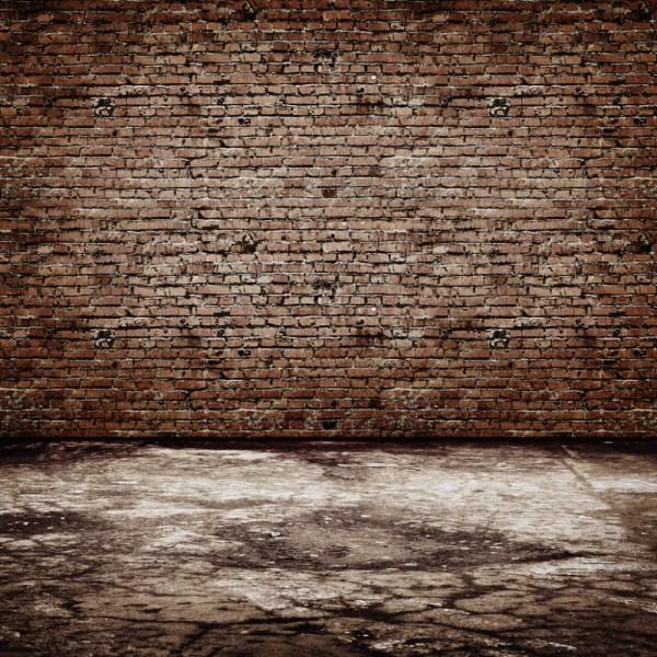 Brick Wall & Wooden Floor Theme Vinyl Custom