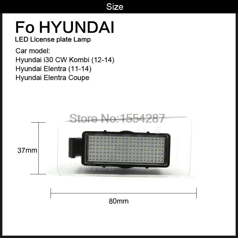 2x Error Free white LED License number Plate Light For