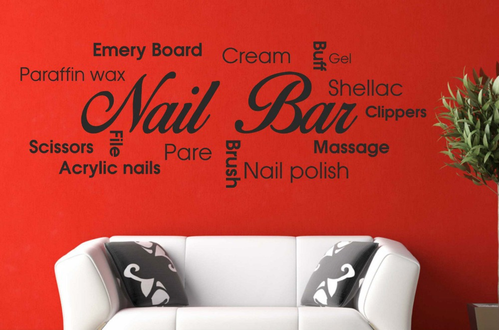 timeless design e30c1 7891b Nail-Bar-Collage-Vinyl-Wall-Decal-Picture-Quote- ...