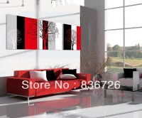 3 piece canvas wall art Colorful abstract art Black white ...