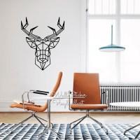 Geometric Deer Wall Sticker Modern Geometric Deer Wall ...