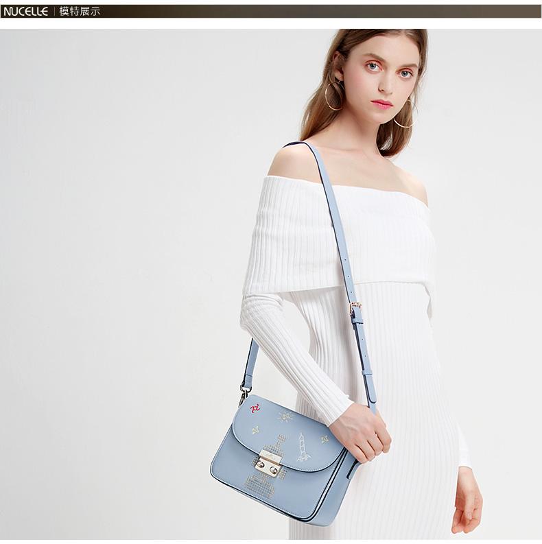 db7edcd7999a5 ヾ(^▽^)ノLas mujeres de moda bolso de mano de cuero genuino bolsos ...