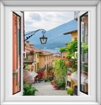 Fake Window Wall Sticker - online get cheap wall sticker ...