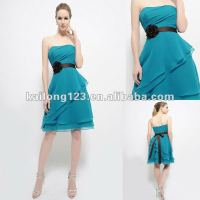 Elegant Strapless Tiered A line Knee length Oasis with ...
