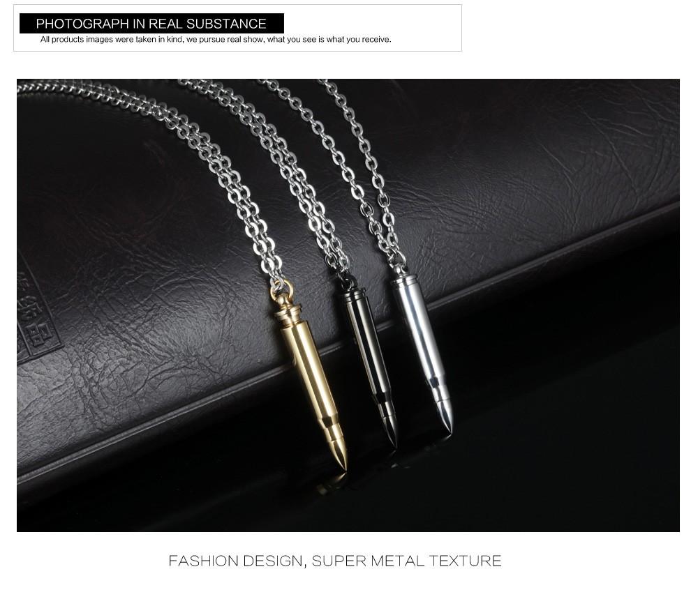 Oro Negro Plata collar de hueso de pescado hombres d1f407776add