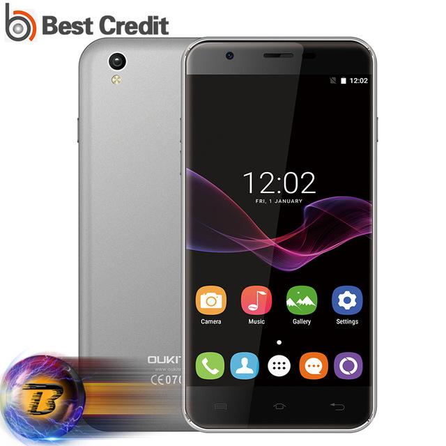 Original Oukitel U7 MAX 5.5 Inch HD Mobile Phone Android 6.0 MTK6580A Quad Core 1GB+8GB 8MP Camera 3G WCDMA Dual SIM Smartphone
