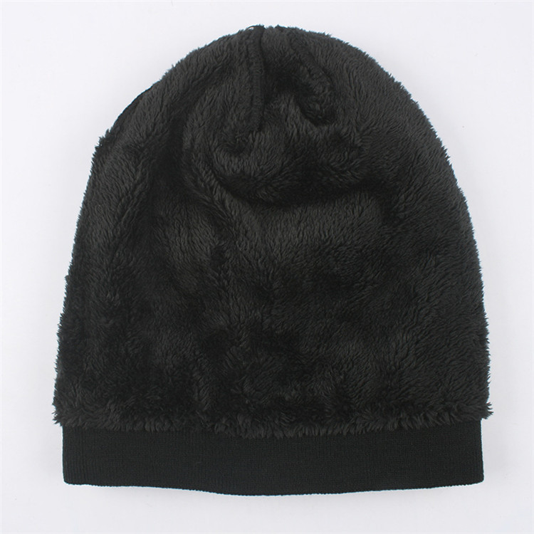 ∞Recién invierno gorro de punto color puro Bonnet sombreros ... 64a73342ce3