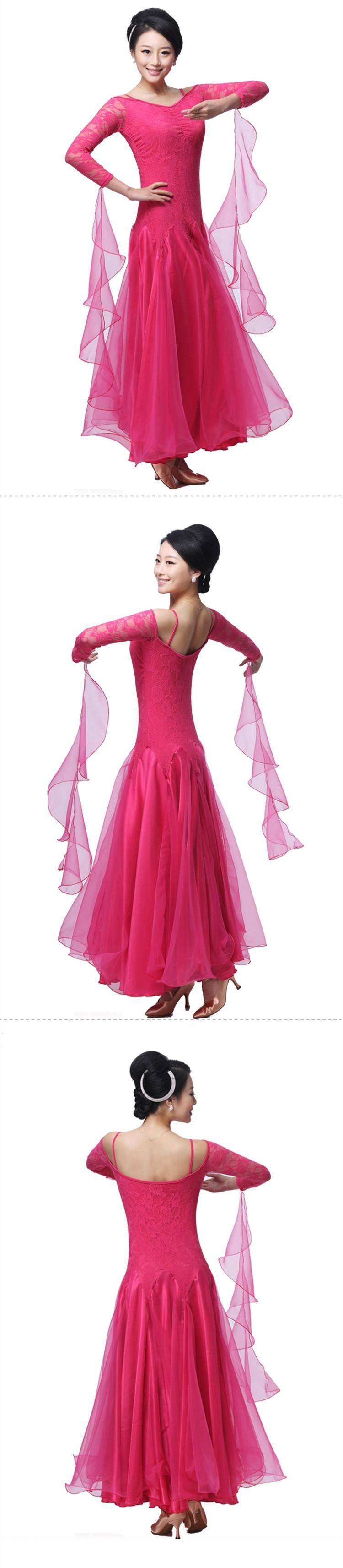 ②Mujer salón de baile competencia vestidos personalizar salón ...