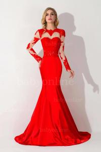 Red Long Sleeve Prom Dresses | www.imgkid.com - The Image ...