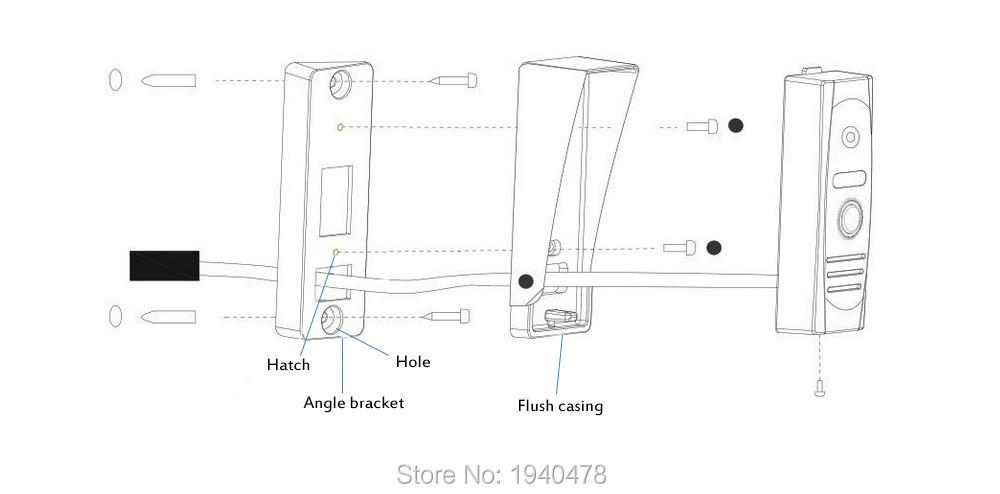 7″ TFT Wired Video Intercom Doorbell