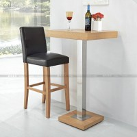 Simple and stylish wood bar chair high chairs dining room ...