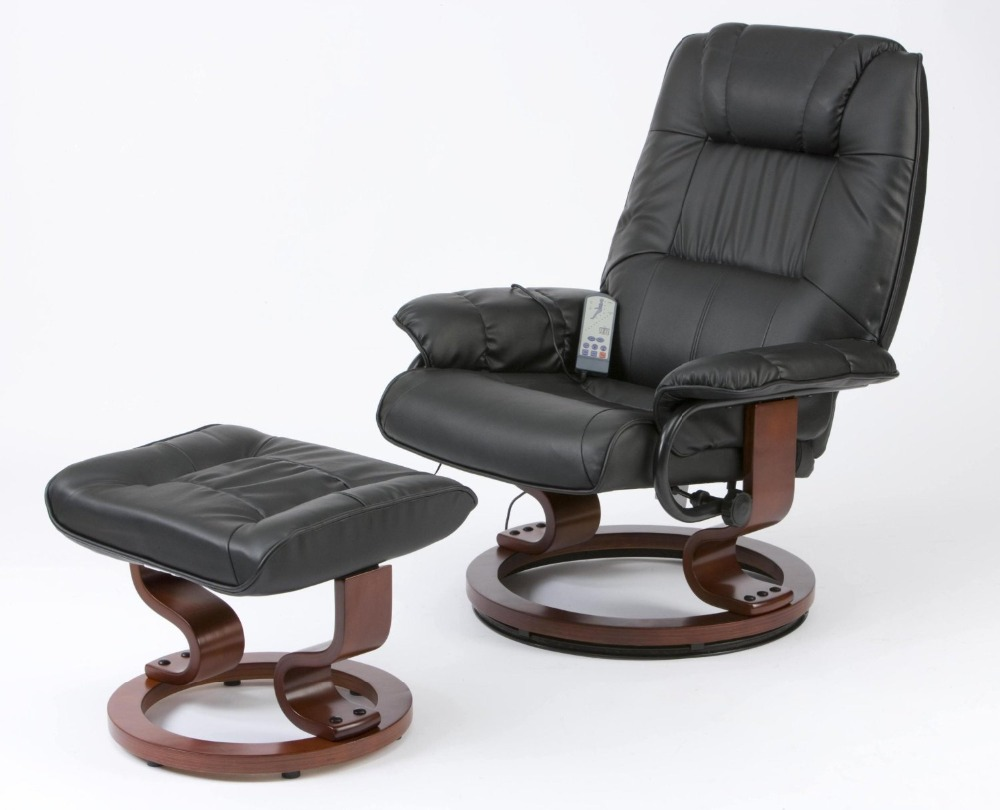 Deluxe Leisure Medical Massage Chair and Stool Leather