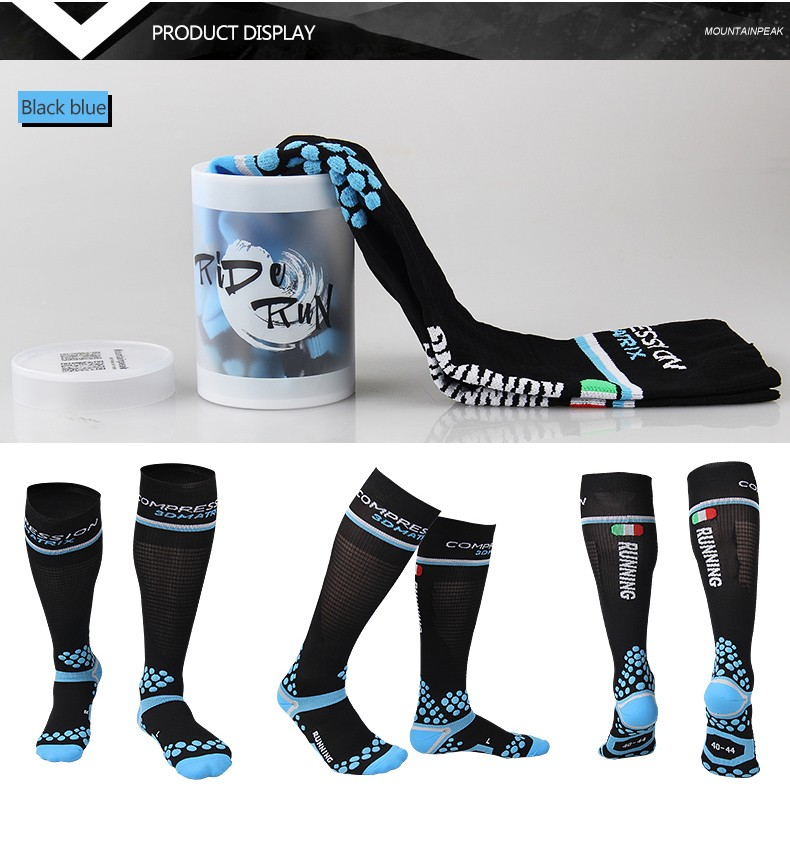 Running for Sports Unisex Romantic Bike Design Elastic Long Socks Compression Knee High Socks Travel 50cm