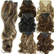 160g 7pcs set clips in hair extension