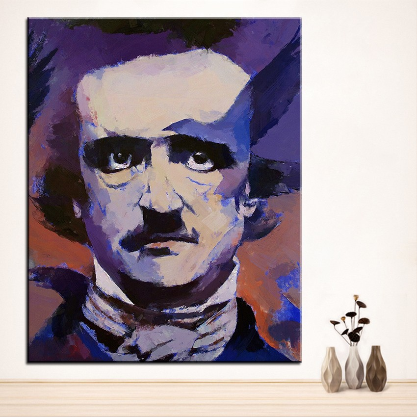 Large size Printing Oil Painting edgar allan poe Wall painting Home ...