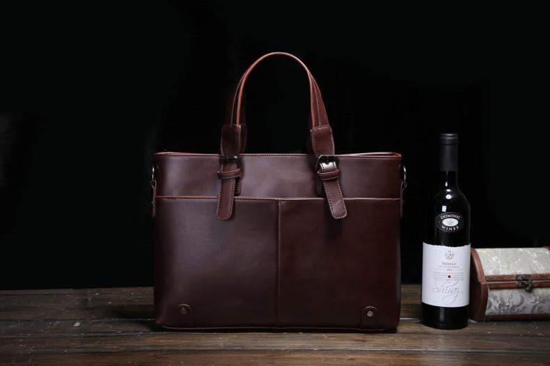 Sac à bandoulière pour hommes La première couche de sac à main d'affaires en cuir Sac à bandoulière à l'épaule en cuir pour hommes occasionnels (Color : Brass, Size : M)